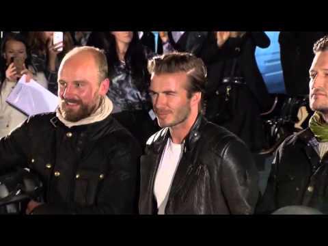 David Beckham Attends British Brand Belstaff's Flagship Store Opening