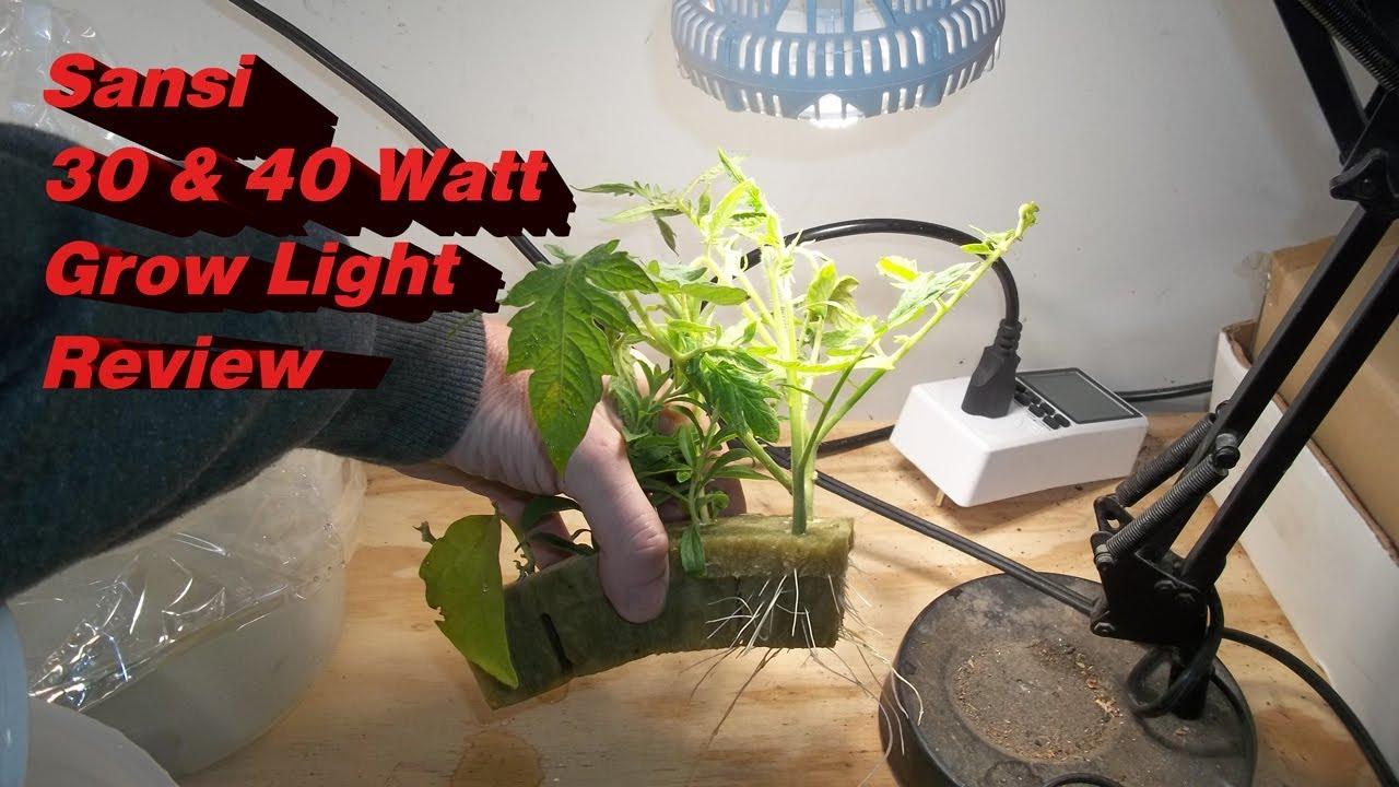 Sansi 30watt and 40watt LED Grow Light Review - Electricity Use Calculator
