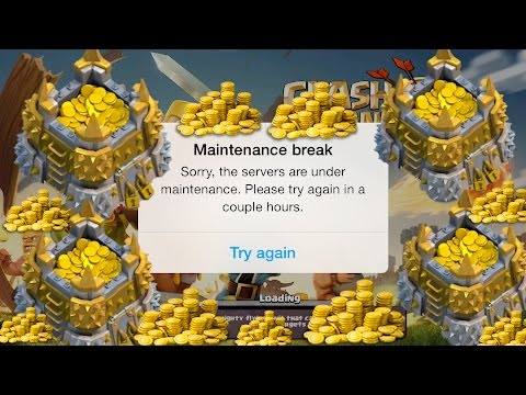 Clash Of Clans: Golden Hour after Maintenance Break / CRAZY LOOT! (Live Raid)