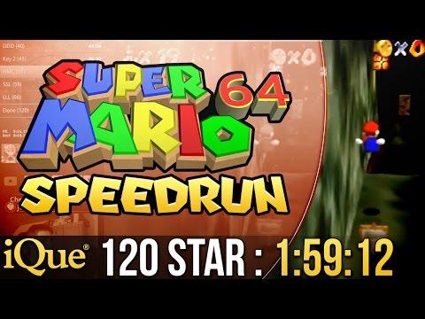 Super Mario 64 120 Star Speedrun in 1:59:12 on iQue