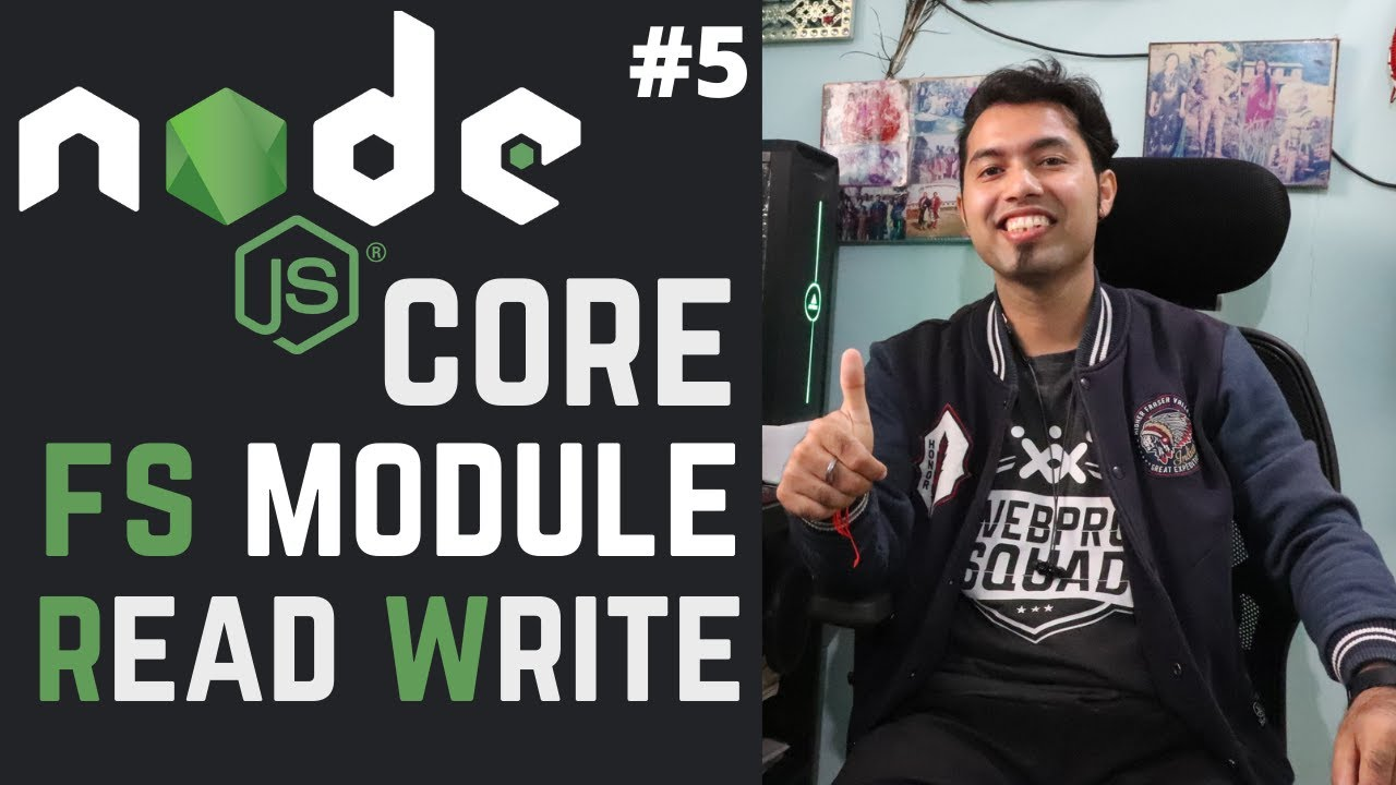 Mastering the Node.js Core Modules | File System Node.js Module in Hindi in 2020