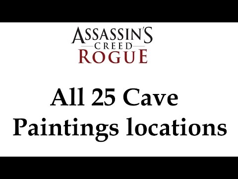 """""""Assassin's Creed: Rogue"""" All 25 Cave Paintings locations + Full Unlocked Story"""