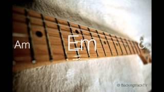 Blues Guitar Backing Track in Em