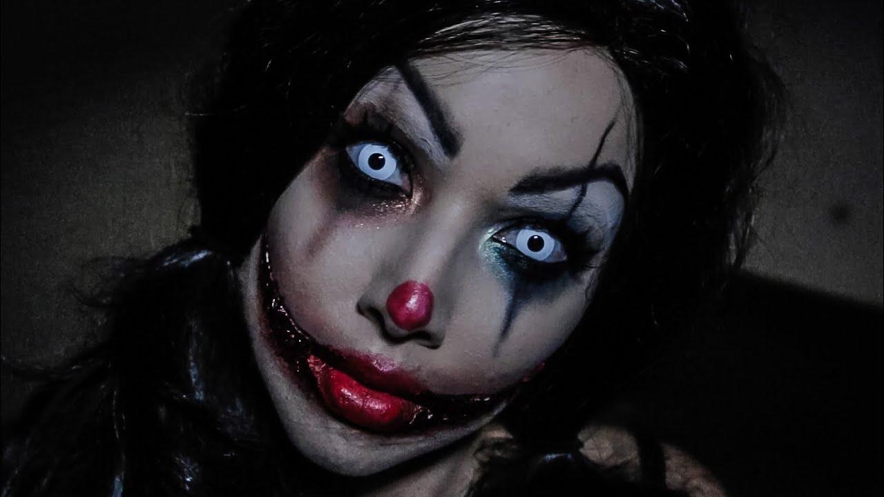 Fantasy Girl Wallpaper 1080p Creepy Clown Tutorial Youtube