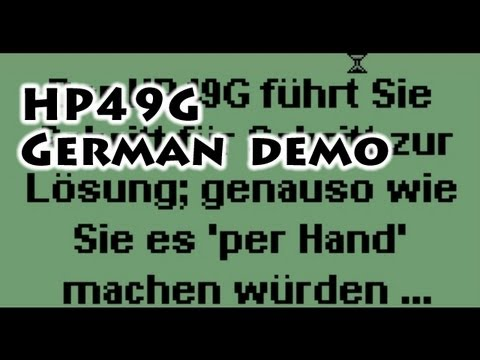 HP calculators: HP49G German Demo - Gaak