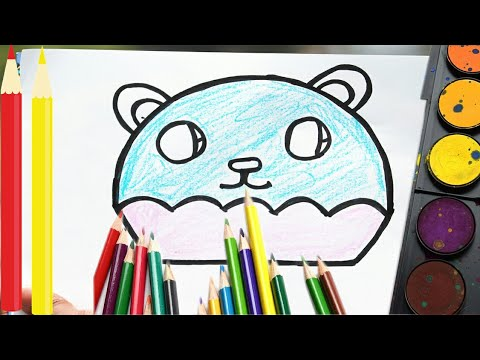 Draw A Cute Panda Cupcake Easy Step By Step Easy Way Youtube