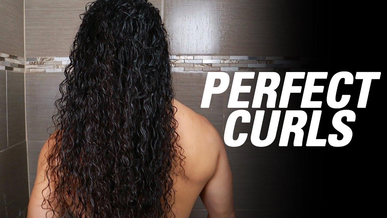 Long Curly Hair Routine For Men Youtube