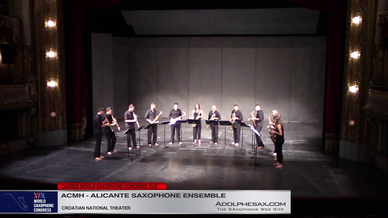 Oxymoron 3 by José del Valle   Ensemble de Saxofones de Alicante   XVIII World Sax Congress 2018 #a