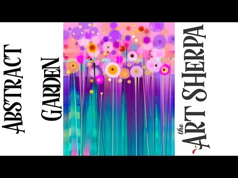 Easy Floral Abstract Step By Step With Acrylic On Canvas The Art Sherpa | TheArtSherpa