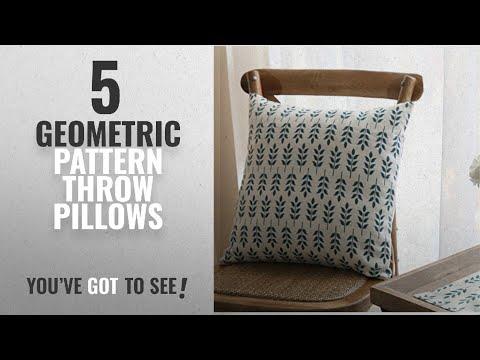 Top 10 Geometric Pattern Throw Pillows [2018]: TAOSON American Pastoral Wheat Pattern Cotton Flax