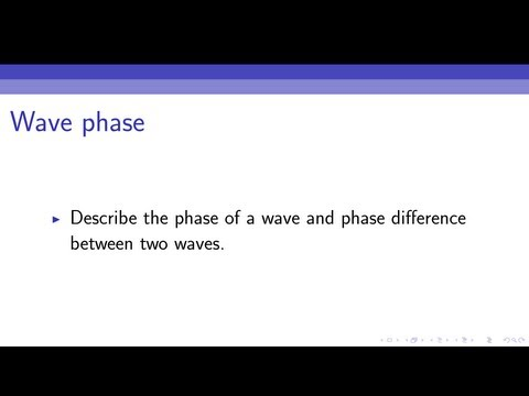 Wave phase and phase difference