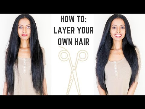 How to: Cut Layers in Long Hair Easy DIY Tutorial