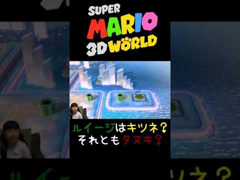 【スーパーマリオ3Dワールド】キツネルイージ?タヌキルイージ?【ゲーム遊び】#Shorts