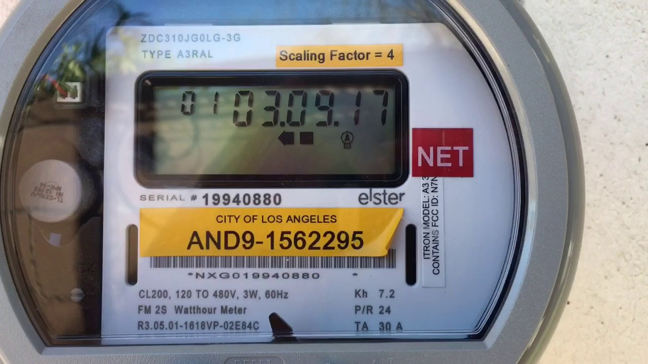 How to read LADWP Solar Meter