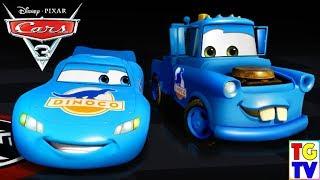 Cars 3: Driven to Win - Dinoco Lightning McQueen & Mater vs Gasprin Lightning McQueen & Cam