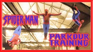 SPIDERMAN PARKOUR TRAINING in Real Life | Flips & Kicks