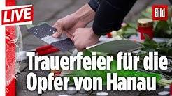 🔴 Trauerfeier für die Opfer von Hanau | BILD Live vom 20.02.2020