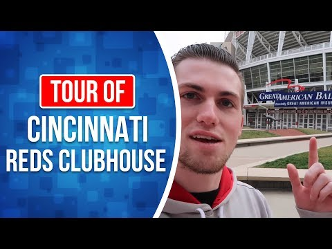 Behind the scenes at The Cincinnati Reds Clubhouse Tour!!!!