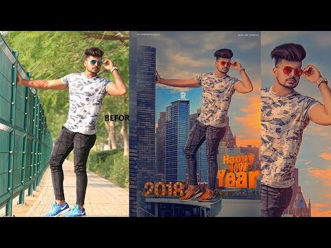 Happy New Year Editing Photoshop Cc 2018  Part-2