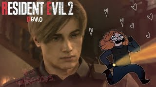 Resident Evil 2 demo - Screaming about Leon (Best Moments)