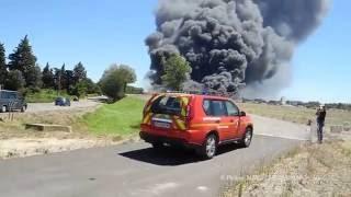 Arles - Incendie Delta Recyclage - 16/07/2016
