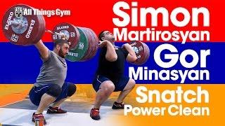 Simon Martirosyan Snatches 175kg & Gor Minasyan Power Cleans 195kg at 2017 European Championships
