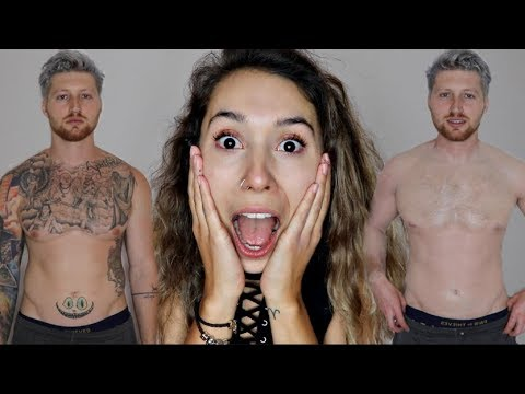 Thumbnail: COVERING UP MY BOYFRIEND'S TATTOOS WITH MAKEUP!!