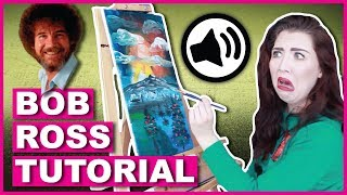 following-a-bob-ross-painting-tutorial-with-only-audio