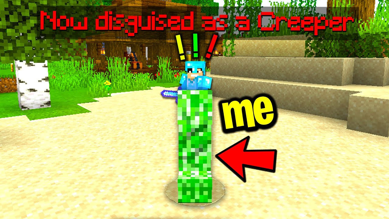 Download Trolling my new minecraft friend with a disguise plugin