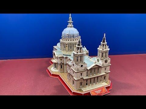 DIY Craft Instruction 3D Puzzle CubicFun SAINT PAUL'S CATHEDRAL