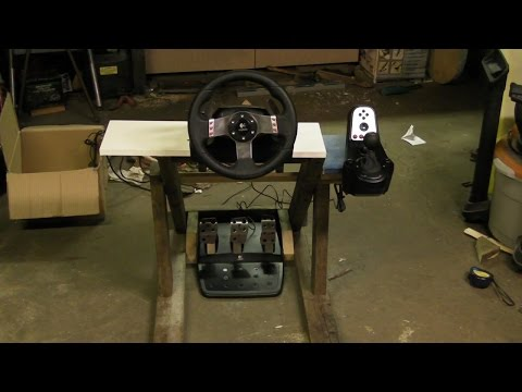 FREE DIY Homemade racing rig (couch cockpit) for my Logitech G27 racing wheel