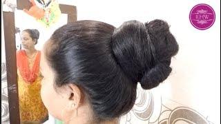 ILHW Rapunzel Shobha Huge Sensual Bun Making Bun Drop Hair Flaunting