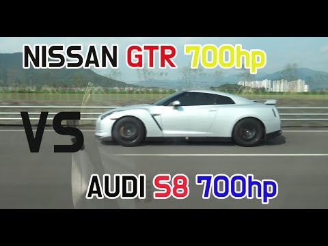 [롤링+드래그]닛산GTR vs Audi S8  [GTR R35 Rolling&Stop Drag Race in Korea] 데저트이글