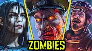 BLACK OPS 4 ZOMBIES: THE MOVIE (Aether Story) - ALL EASTER EGG CUTSCENES, INTROS AND FULL STORYLINE
