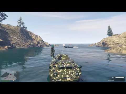 GTA 5 Gunrunning DLC - HVY APC Mission (Offshore Assets)