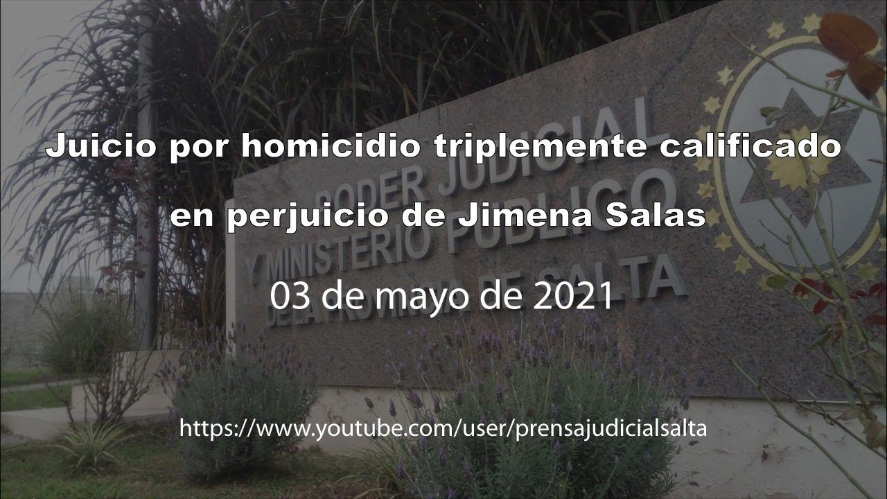 Juicio por homicidio triplemente calificado en perjuicio de Jimena Salas