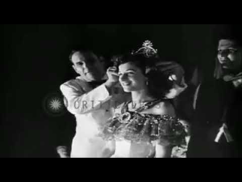 Escenas del Carnaval de la Victoria 1946, con su Majestad Marcela Cucalon.