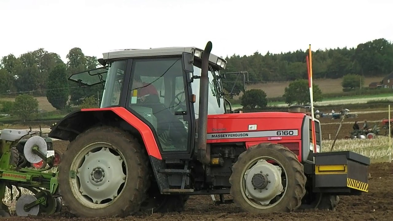 1997 Massey Ferguson 6160 Diesel Tractor With Dowdeswell Plough