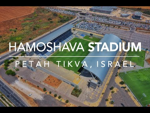 HaMoshava Stadium (Petah Tikva) from above 4K