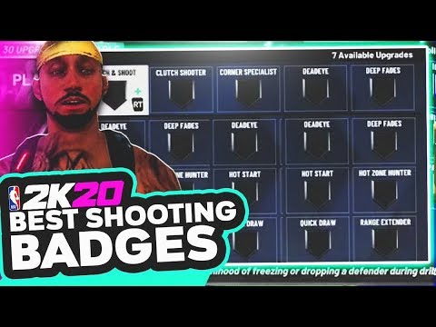 *NEW* NBA 2K20 BEST SHOOTING BADGES TO SHOOT ALL GREENS! BEST SHOOTING BADGE SET UP!