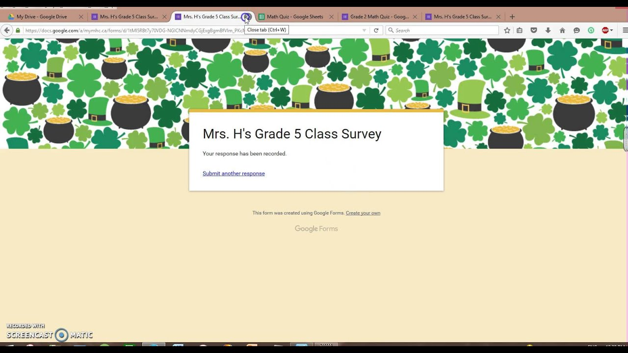 How to use Google Forms and Google Spreadsheet. - YouTube