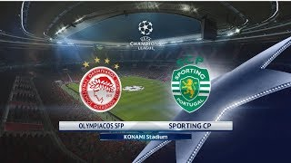 Olympiacos vs Sporting   UEFA CHAMPIONS LEAGUE   PES 2017   Gameplay PC