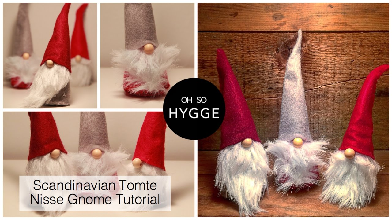 scandinavian tomte nisse christmas gnome diy tutorial - Gnome Christmas Decorations