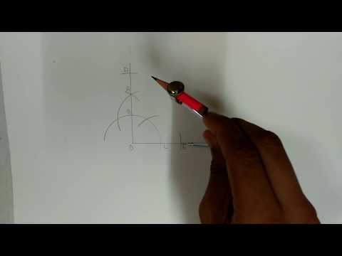 How to construct 55 degree angle
