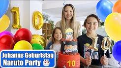 Johanns 10. Geburtstag 🎂 Naruto Party & Torte! Geschenke auspacken   Emotionaler Tag   Mamiseelen