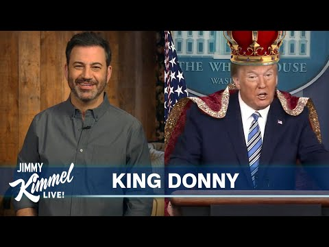 "Jimmy Kimmel's Quarantine Monologue – Trump is ""Man of the Year"" & ""King of Ventilators"""