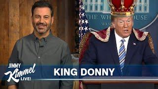 "Jimmy Kimmel's Quarantine Monologue – Trump is ""Man of the Year"" & ""King of Ventilators"""