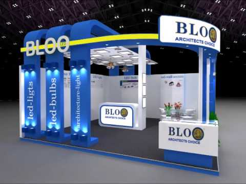 Exhibition Stall Lights : Istanbul turkey led lighting exhibition bloo led our booth