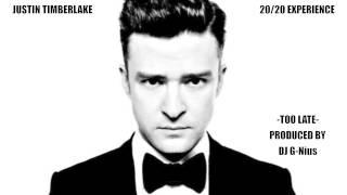 "Justin Timberlake ""Too Late"" instrumental snippet (Prod DJ G-Nius 2013)"