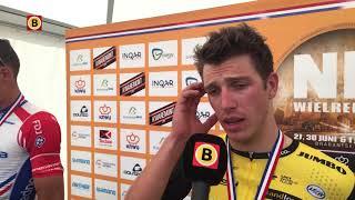 Danny van Poppel na het NK wielrennen: 'Mathieu was beter'